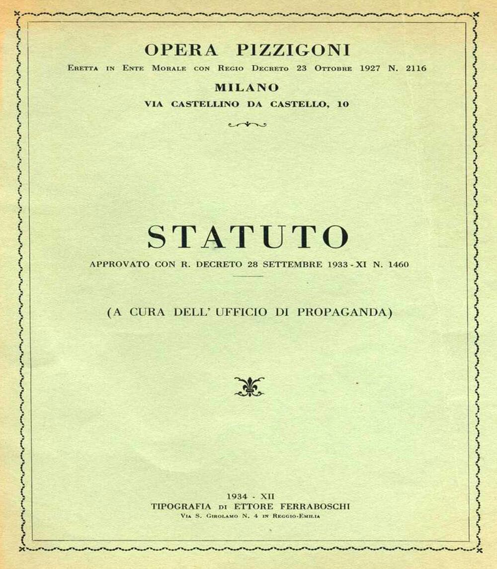 Materiali pedagogici Metodo Pizzigoni   Fondo Pizzigoni Scuola dell'Infanzia